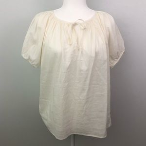 Urban Outfitters Peasant Boho Blouse Off White